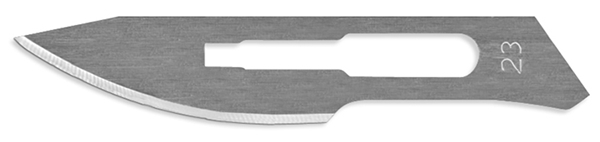 Picture of #23 Non-Sterile Carbon Steel Scalpel Blades - Box of 100