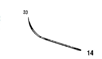 Picture of 33mm, Half Curved Reverse Cutting Suture Needle - Style 102-14