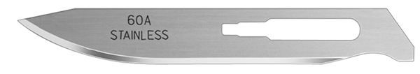 Picture of #60A Stainless Steel Blades - One Dozen